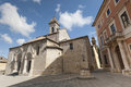 San Quirico d'Orcia (Tuscany), church Stock Image