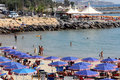 San Remo beach, Italy Royalty Free Stock Photo