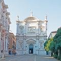San rocco church facade in venice italy Royalty Free Stock Photos