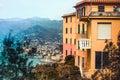 San rocco small mountain village in liguria region italy Royalty Free Stock Photo