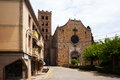 San salvadar monastery in breda catalonia spain Royalty Free Stock Image