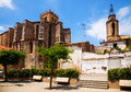 San salvadar monastery and santa maria church in breda catalonia spain Stock Photography
