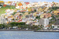 San sebastian de la gomera the colorful houses of on the island seen from seaside is the capital of the Royalty Free Stock Image