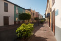 San sebastian de la gomera street canary islands Stock Images