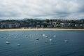 San Sebastian Donostia at Biscay bay coast, Spain. Royalty Free Stock Photo