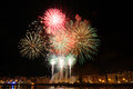 San Sebastian fireworks in summer fair Stock Photo