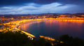 San Sebastian in night. Spain Royalty Free Stock Photo