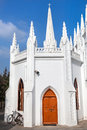 San thome basilica in chennai and bicycle tamil nadu india Stock Images