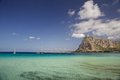 San vito lo capo sicily view of famous beach of Stock Photo