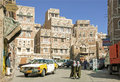 Sanaa city old town yemen Royalty Free Stock Photos