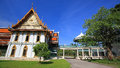 Sanam chan palace king rama against blue sky nakhon pathom thailand Stock Photography