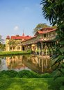 Sanam chandra palace is a tiny castle like structure built in a combination of french and english styles the grounds is Royalty Free Stock Photography