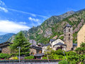 Sanat Esteve church in Andorra la Vella, Andorra. Royalty Free Stock Photo