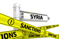 Sanctions against Syria. Concept