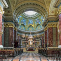 Sanctuary and altar of St. Stephen`s Basilica in Budapest, Hungary Royalty Free Stock Photo