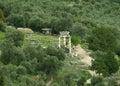 The Sanctuary of Athena Pronaia view from Temple of Apollo, Delphi Royalty Free Stock Photo