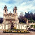 Sanctuary of Bom Jesus do Monte. Popular landmark and pilgrimage