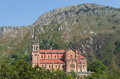 Sanctuary of covadonga in asturias spain Royalty Free Stock Photo