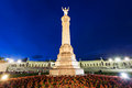 Sanctuary of fatima the at the night portugal Royalty Free Stock Image