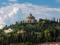 Sanctuary of the madonna of lourdes in verona scenery from Stock Image