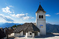 Sanctuary of monte lussari friuli italy ancient a place pilgrimage on the julian alps Stock Photos