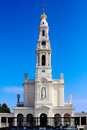 Sanctuary of our lady of fatima beautiful portugal against deep blue sky Stock Image
