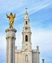 Sanctuary of our lady of fatima portugal Royalty Free Stock Photos