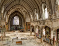 Sanctuary ruins abandoned inner city church Royalty Free Stock Photography
