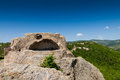 Sanctuary tatul the tomb of orpheus in the thracian complex near village bulgaria Royalty Free Stock Image