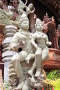 Sanctuary of Truth Figures, Pattaya, Thailand Royalty Free Stock Image
