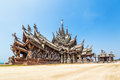 Sanctuary of truth in pattaya thailand the wood chonburi Stock Images