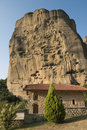 Sanctuary Under Rock Meteora, Greece Stock Photography