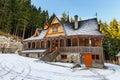 Sanctuary in winter, Poland Royalty Free Stock Photo