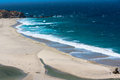 Sand beach along the Big Sur, California Royalty Free Stock Photo