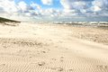 Sand beach on baltic sea white view to costline curonian spit nida neringa lithuania Stock Photo