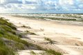 Sand beach on baltic sea white view to costline curonian spit nida neringa lithuania Stock Photography
