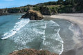 Sand beach in fort bragg california the along the coast of Stock Images