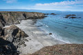 Sand beach in fort bragg california the along the coast of Stock Photography