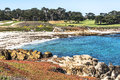The sand beach of monterey california a view a along coast Stock Images
