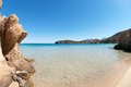 Sand beach vacation crete island greece Royalty Free Stock Images