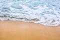 Sand beach water background Royalty Free Stock Photo