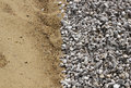 Sand and broken stone vertical background photo Stock Images