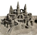 Sand castle close up view at Royalty Free Stock Photos