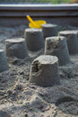 Sand castles Stock Photos