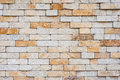 Sand color masonry not smooth brick wall of Stock Image