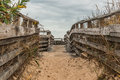 Sand-Covered Pathway to Beach at First Landing State Park Royalty Free Stock Photo