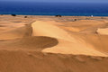 Sand desert an orange in gran canaria island spain Stock Photo