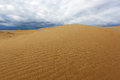 Sand desert before thunderstorm scene in Royalty Free Stock Image