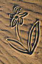 Sand Drawings Royalty Free Stock Photo