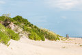 Sand Dune Covered in Beach Grass at Nags Head Royalty Free Stock Photo
